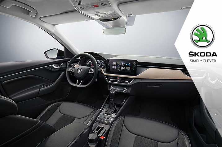 Interior fata Skoda Scala
