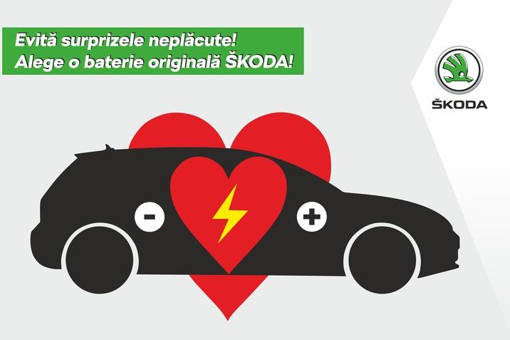 Bateriile originale SKODA