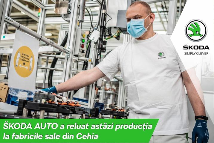 Skoda Auto reia astazi productia la fabricile din Cehia